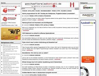 Main page screenshot of geschaeftsreisekontakt.de