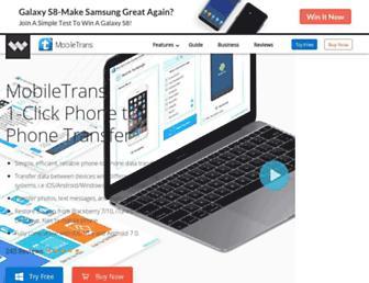 mobiletrans.wondershare.com screenshot