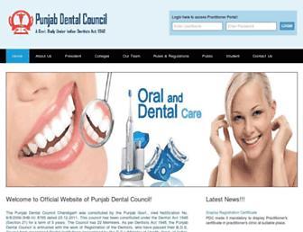 punjabdentalcouncil.com screenshot