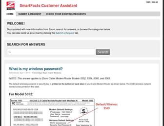 zoomtel.zendesk.com screenshot