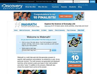 Thumbshot of Webmath.com