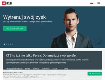 Main page screenshot of xtb.pl