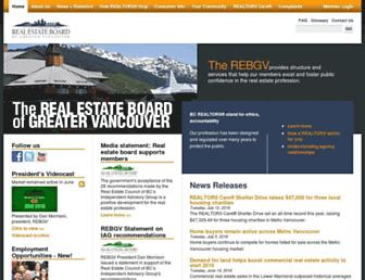 Main page screenshot of rebgv.org