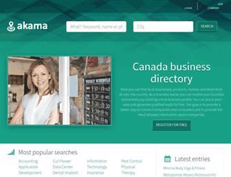 akama.ca screenshot