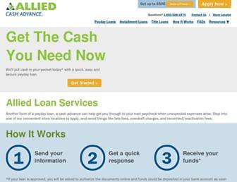alliedcash.com screenshot