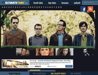 ultimate-tabs.com screenshot