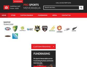 prosportsmemorabilia.com.au screenshot