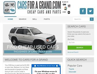 carsforagrand.com screenshot