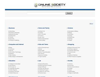 Main page screenshot of onlinesociety.org