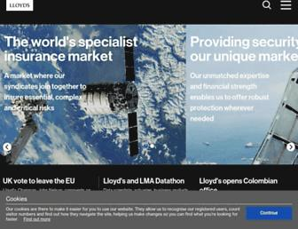 lloyds.com screenshot