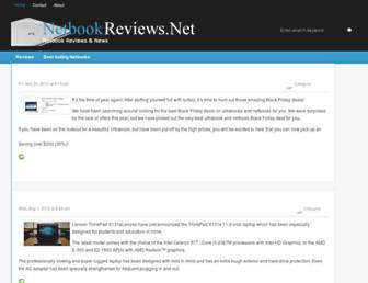 Main page screenshot of netbookreviews.net