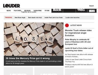 loudersound.com screenshot