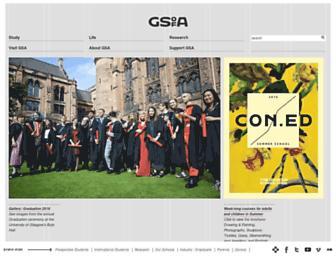 gsa.ac.uk screenshot
