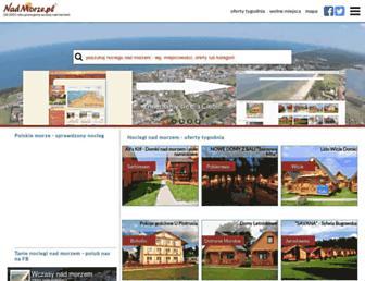 Main page screenshot of nadmorze.pl