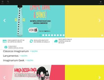 Main page screenshot of imaginarium.com.br