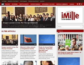 Main page screenshot of imille.org