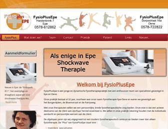 fysioepe.nl screenshot
