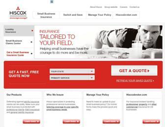 hiscox.com screenshot