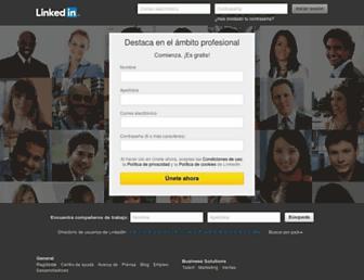 es.linkedin.com screenshot