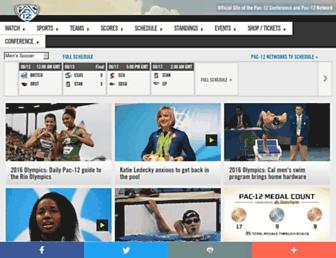 Main page screenshot of pac-12.org