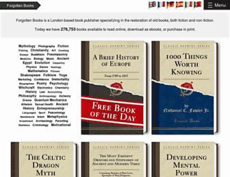 forgottenbooks.org screenshot