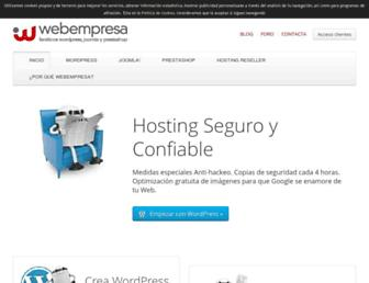 webempresa.com screenshot