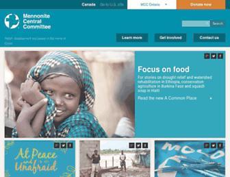 Main page screenshot of mcco.ca