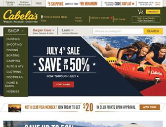 Screenshot for cabelas.com