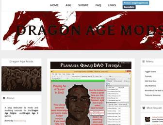 dragonagemods.tumblr.com screenshot