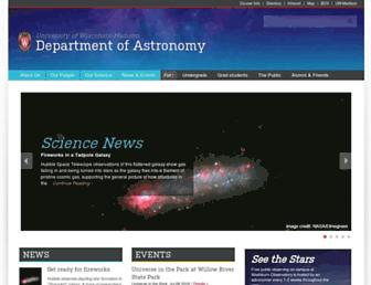 astro.wisc.edu screenshot