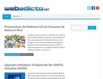 Main page screenshot of webadicto.net
