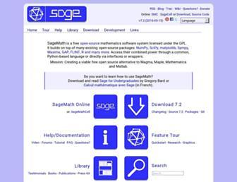 sagemath.org screenshot