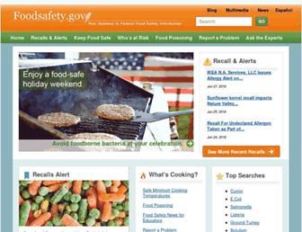 Thumbshot of Foodsafety.gov