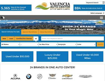 valenciaautocenter.com screenshot
