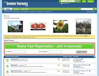 seniorforums.com screenshot
