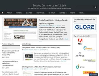 Main page screenshot of excitingcommerce.de