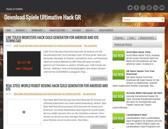 downloadspieleultimativehack.blogspot.com screenshot