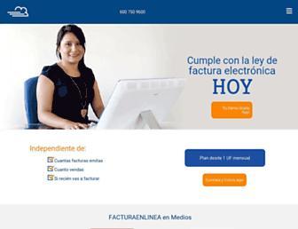 facturaenlinea.cl screenshot