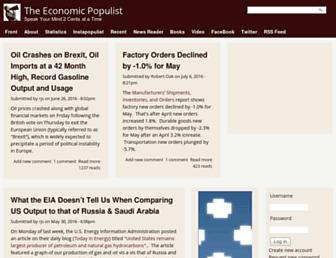 Main page screenshot of economicpopulist.org