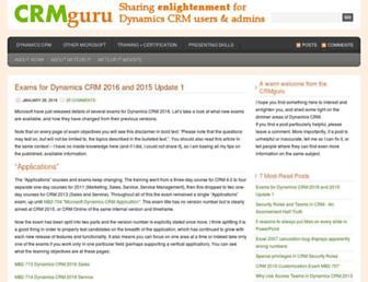 blog.crmguru.co.uk screenshot
