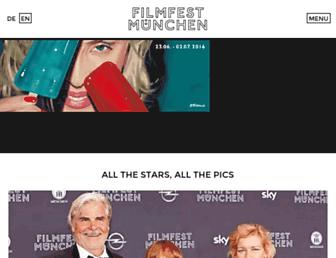 Main page screenshot of filmfest-muenchen.de