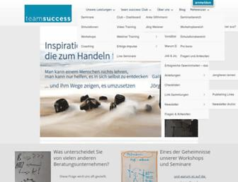 Main page screenshot of team-success.de