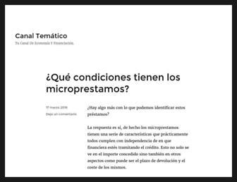 Main page screenshot of canaltematico.es