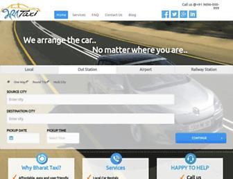 bharattaxi.com screenshot