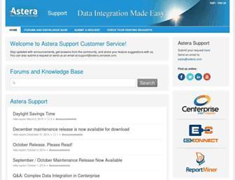 astera.zendesk.com screenshot