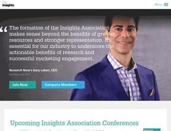 insightsassociation.org screenshot