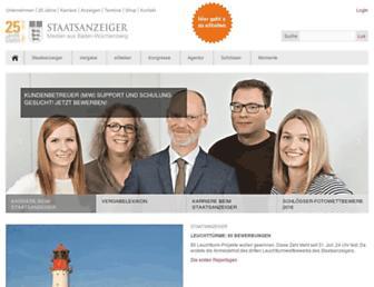 Main page screenshot of staatsanzeiger-verlag.de