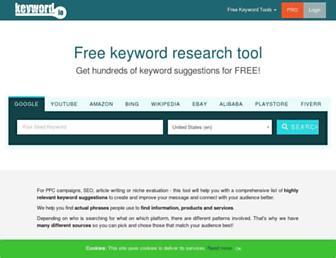 keyword.io screenshot