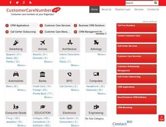 Thumbshot of Customercarenumber.co.in