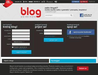 Main page screenshot of blog.dnevnik.hr